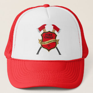 Firefighter Chief Gift (Extraordinaire) Trucker Hat