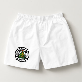 Firefighter Christmas Fire Dept Boxers