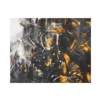 Firefighter - Courage for battling the Beast Canvas Print