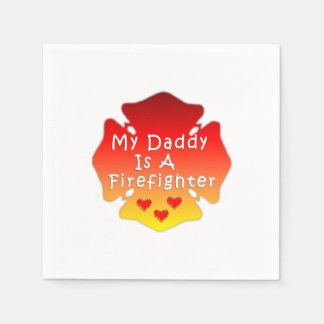 Firefighter Dad Paper Napkin