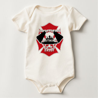 Firefighter daddy baby bodysuit