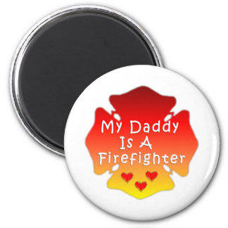 Firefighter Daddy Magnet