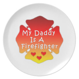 Firefighter Daddy Plate