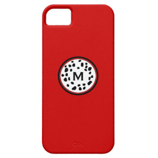 Firefighter Dalmation Monogram Red Iphone 5 Case