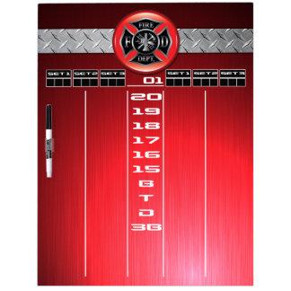 Firefighter Darts Scoreboard Dry Erase Board
