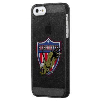 Firefighter Eagle Shield Clear iPhone SE/5/5s Case