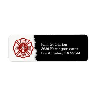 Firefighter Emblem | Return Address Return Address Label