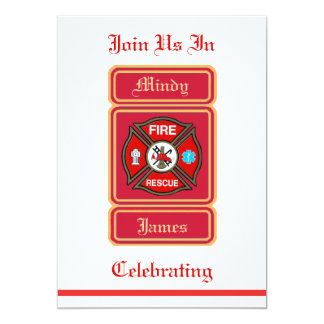 Firefighter EMT Rescue Wedding Invitation