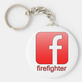 Firefighter Facebook Logo Unique Gift Template Key Chain
