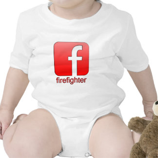 Firefighter Facebook Logo Unique Gift Template Bodysuit