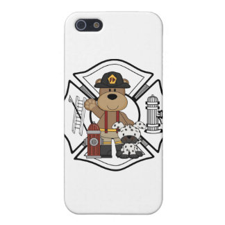 Firefighter Fire Dept Bear iPhone 5 Case