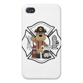 Firefighter Fire Dept Bear iPhone 4 Cases