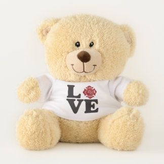 Firefighter / Fire Dept LOVE Teddy Bear