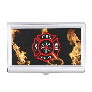 Firefighter Fire Dept Maltese Cross for Firemen Business Card Holder