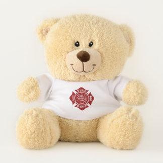 Firefighter / Fire Dept Maltese Cross Teddy Bear