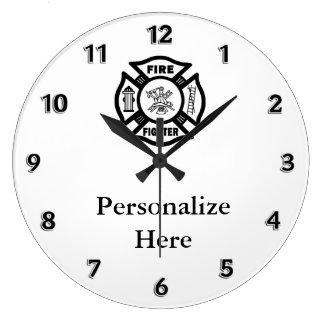 Firefighter Fire Dept Symbol Wallclock