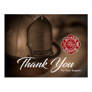 Firefighter / Fire Dept Thank You Postcard