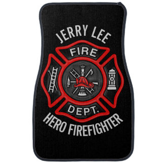 Firefighter Fireman Personalized Car Mat