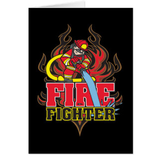Firefighter Flames Card