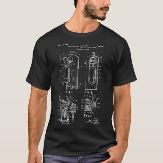 Firefighter Gift Fire Extinguisher Patent T Shirt