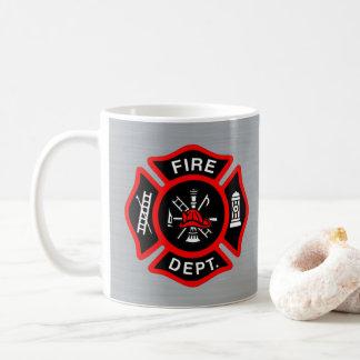 Firefighter Gift Mug | Fire Department Metallic