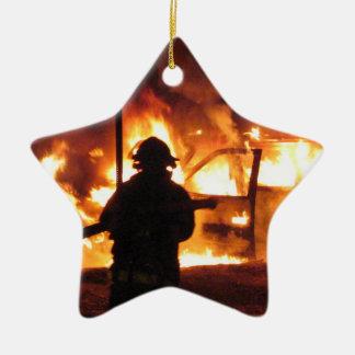 Firefighter Handline Ceramic Star Decoration