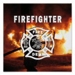 Firefighter Handline Print