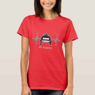 Firefighter Helmet - My Passion Heartbeat T-Shirt