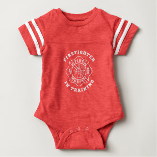 Firefighter in Training Baby Football Bodysuit