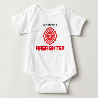 Firefighter is baby bodysuit