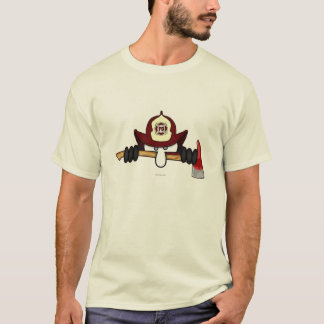 Firefighter Kilroy Icon White T-Shirt