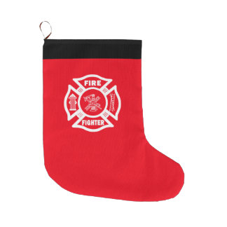 Firefighter Large Christmas Stocking