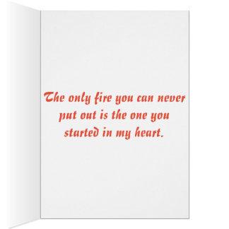 Firefighter love card