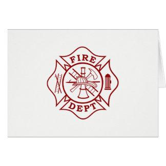 Firefighter Maltese Cross Greeting Card