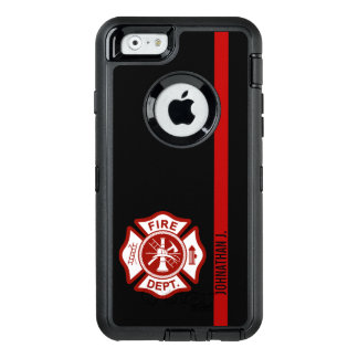 Firefighter Maltese Cross Thin Red Line OtterBox Defender iPhone Case