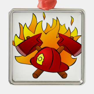Firefighter Metal Ornament
