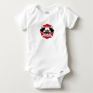 Firefighter mommy baby onesie