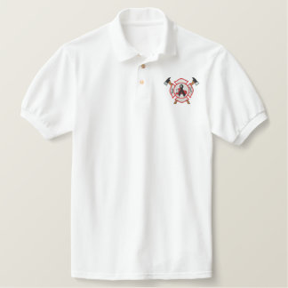 Firefighter Mourning Logo Polos