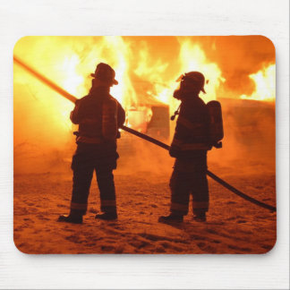Firefighter mouse pad
