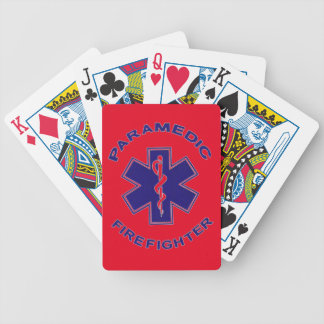 Firefighter Paramedic Bicycle Playing Cards