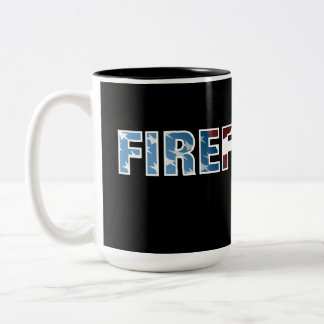 Firefighter Patriotic Two-Tone Coffee Mug
