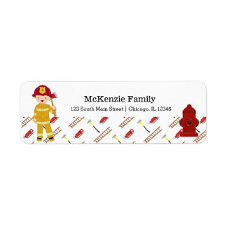 Firefighter Return Address Label