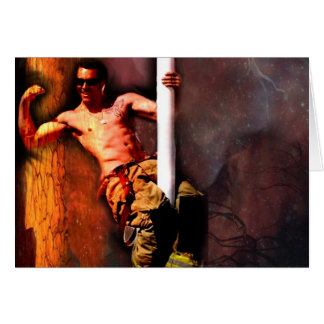 FIREFIGHTER RYAN MALICKI GREETING CARD