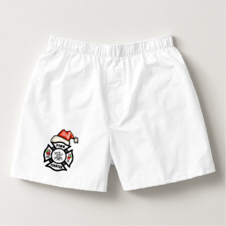 Firefighter Santa Claus Christmas Boxers