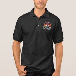 Firefighter Skull 2 and Flaming Axes Polo Shirt