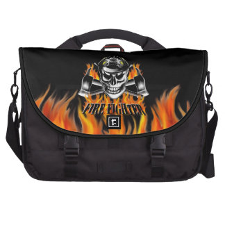 Firefighter Skull 4 and Flaming Axes Bag For Laptop