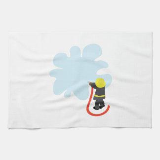 Firefighter Splash Tea Towel