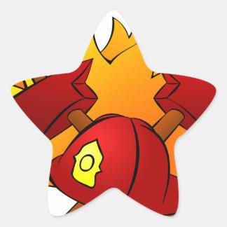 Firefighter Star Sticker