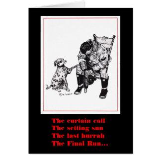 Firefighter sympathy card