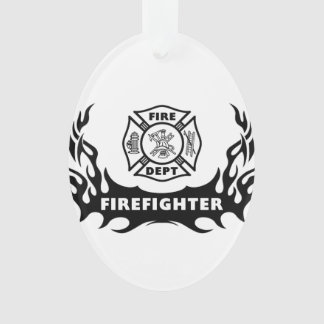 Firefighter Tattoos Ornament